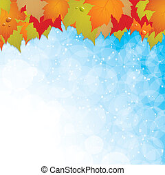 Autumn leaves backgroundVector