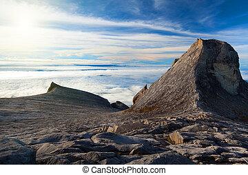 Mount Kinabalu - St Johns peak and South peak at Mount...