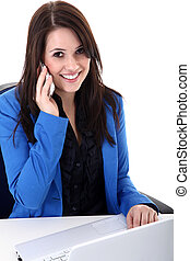 businesswoman in call center