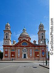 Church of Santa Maria Assunta (XVI c.). Carignano, Genoa,...