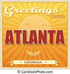 Vintage Atlanta, Georgia poster - Vintage Touristic Greeting...