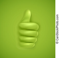 Thumbs up - Background with thumbs up, eps 10