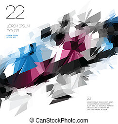 Abstract polygonal template design, vector Eps10...