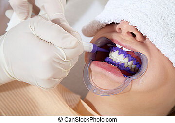 with cosmetic dental treatment