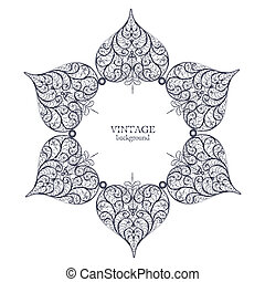 Ornamental round lace, circle ornament