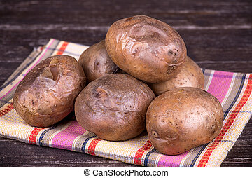 Baked potato - Ukrainian national dish is baked potatoes