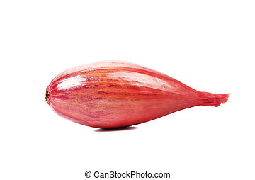 Red-goldish onion bulb Isolated on a white background
