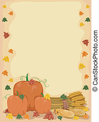 Autumn Pumpkin Background