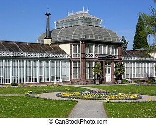 Ancient greenhouse in Kassel, Germany