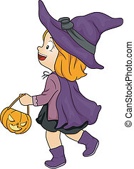 Witch Girl Trick or Treat