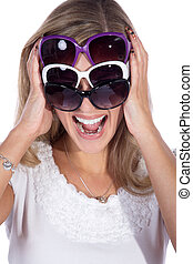 woman with 3 glasses
