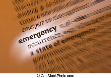 Emergency - Dictionary Definition