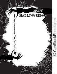 Halloween greeting card or flyer - Halloween background with...
