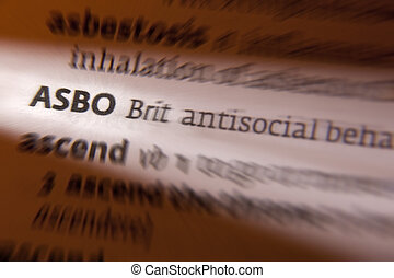 ASBO - Dictionary Definition - ASBO - An anti-social...