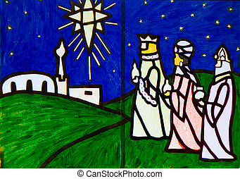 Three Wise Men Nativity Scene artwork