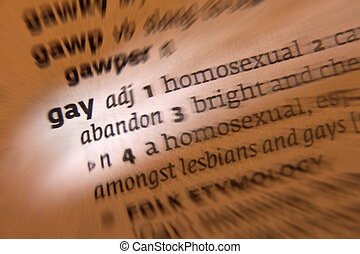 Gay - Dictionary Definition - Gay meaning 'homosexual,'...