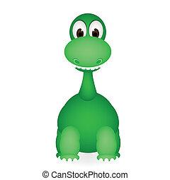 cute dinosaur vector of illustration