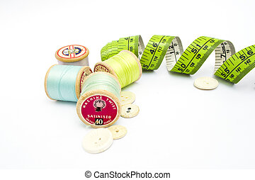 Sewing kit equipment - Various sewing kit equipment on a...