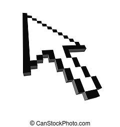 Computer arrow cursor 3d rendered illustration