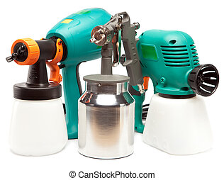 The tool for a painting of surfaces - spray gun electrical...