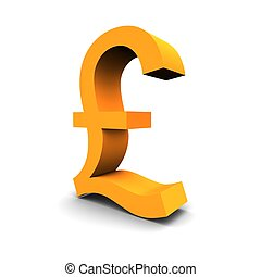 Pound symbol 3d rendered image