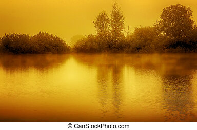 Gold Lake in evening
