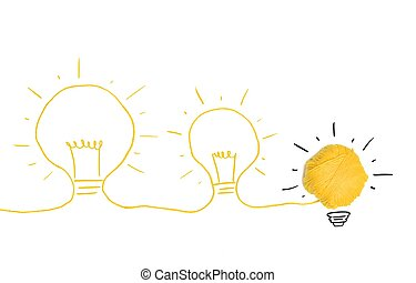 Idea and innovation concept - Concept of idea and innovation...