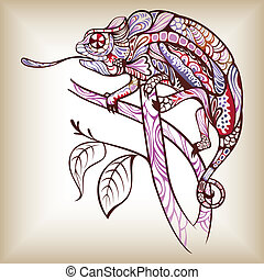 Chameleon - Illustration of abstract design chameleon