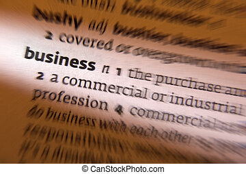 Business - Dictionary Definition