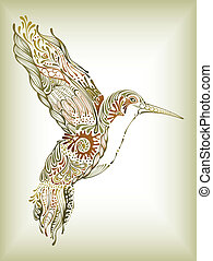 Hummingbird - Illustration of abstract design hummingbird