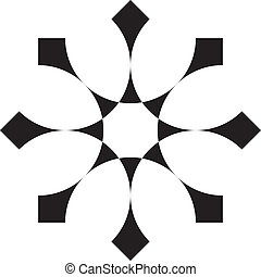 Abstract double cross background element 2