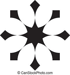 Abstract double cross background element