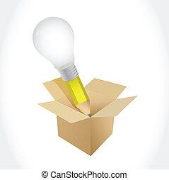 idea pencil box illustration design