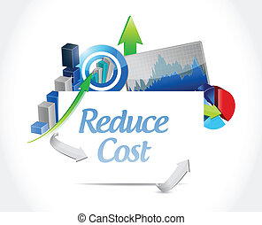 reduce cost business concept illustration design over white