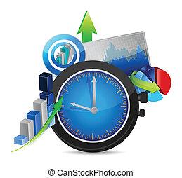 time for business concept illustration design