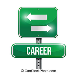 career options road sign illustration design over white