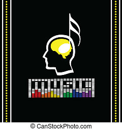 Music Labels, Vector illustration