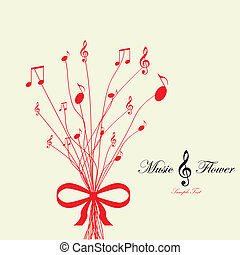 Musical flower. Vector illustration