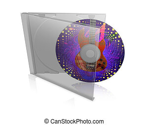 CD case with disk - Illustration of cd, dvd case with disk...