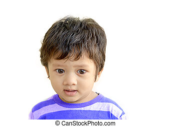 Indian baby boy isolate image - An Asian, Indian baby boy of...