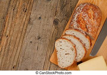 traditionell, bakgrund,  bread