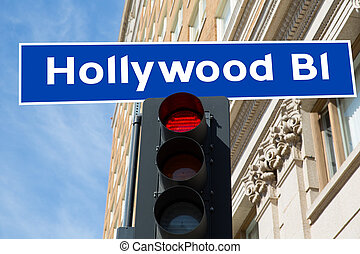 Hollywood Boulevard sign illustration California