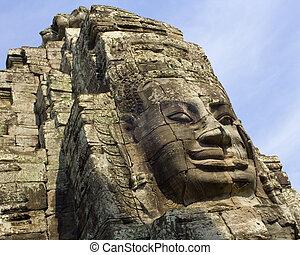 Bayon Temple - Angkor Wat - Cambodia - Bayon Temple near...