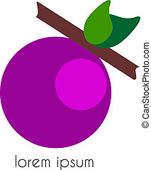 a grain of grapes - Abstract design - a grain of grapes with...