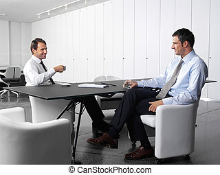 businesspeople having lunch-break - businesspeople having a...