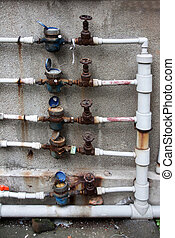 Water flow meters fixed outdoor for all households - estates...