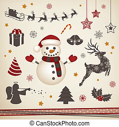 Vector Christmas Collection - Vector Illustration of a...