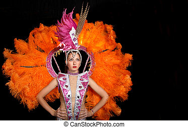 Cabaret dancer - Attractive dancing girl in cabaret costume...