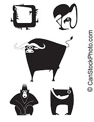 art animal silhouettes - Vector original art animal...