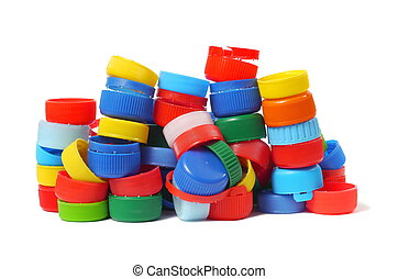 Screw Caps - Collection of various plastic screw caps